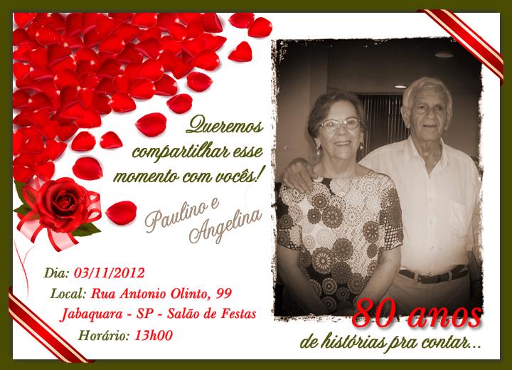 Tag Mensagem Convite De Aniversario 80 Anos